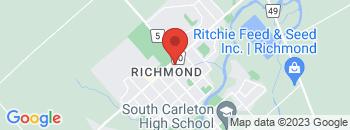 Google Map of 6104+Perth+Street%2CRichmond%2COntario+K0A+2Z0