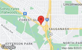 Map of 6107 North Legett Avenue CHICAGO, IL 60646