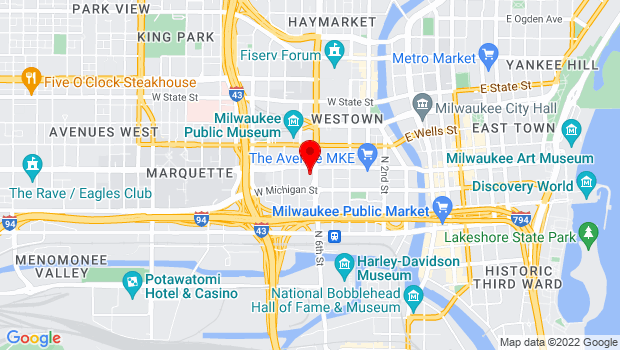 Google Map of 611 W Wisconsin Ave, Milwaukee, WI 53203