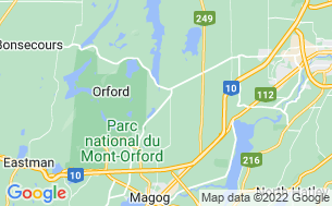 Map of Camping Magog-Orford