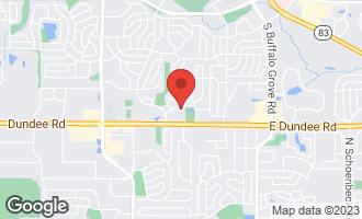 Map of 611 Hapsfield Lane #206 BUFFALO GROVE, IL 60089