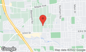 Map of 6114 Stonewall Avenue DOWNERS GROVE, IL 60516