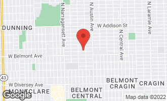 Map of 6116 West Melrose Street Chicago, IL 60634
