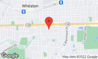 Map of 612 Pershing Avenue WHEATON, IL 60189