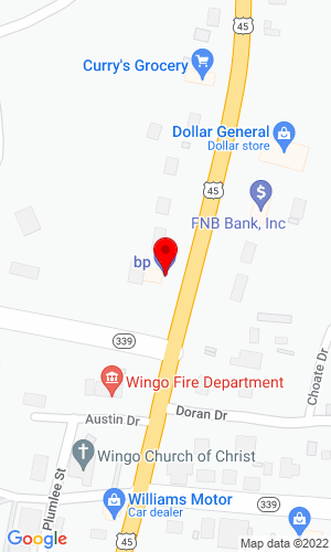 Google Map of Bunch Brothers Auctioneers 6138 Street Rt. 339, Wingo, KY, 42088