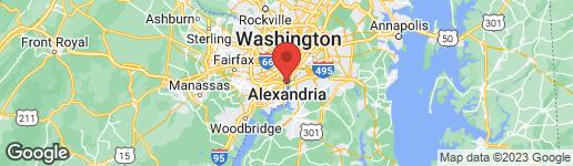 Map of 614 Washington Street N Alexandria, VA 22314