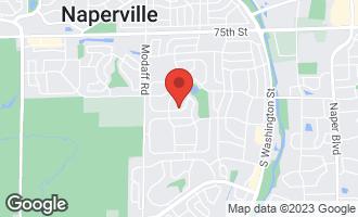 Map of 616 Flock Avenue NAPERVILLE, IL 60565