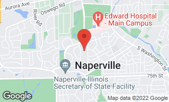 Map of 616 Virginia Court NAPERVILLE, IL 60540