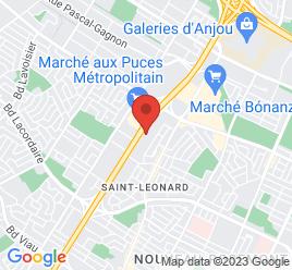 Google Map of 6170%2C+Boul.+M%C3%A9tropolitain+Est%2CSaint-Leonard%2CQuebec+H1S+1A9