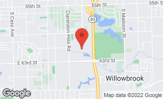 Map of 6176 Knoll Lane Court #202 WILLOWBROOK, IL 60527