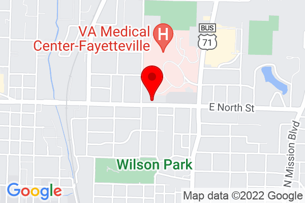 Google Map of 62 w north st fayetteville ar