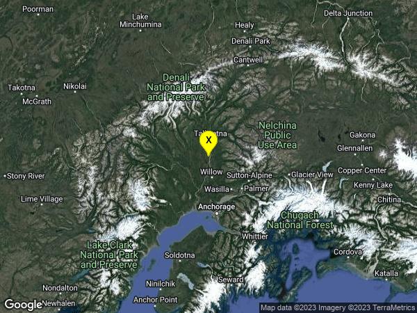 earthquake 19km WSW of Y, Alaska