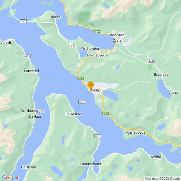 Google Map of 62.145012803035705,6.066707170572192
