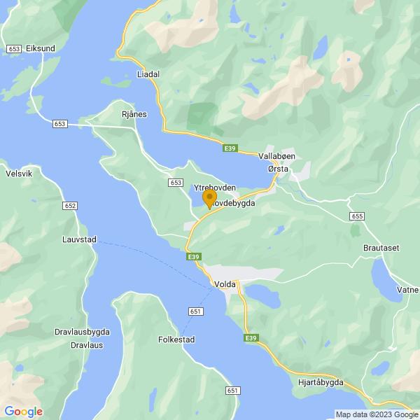 Google Map of 62.17933859999999,6.0603045