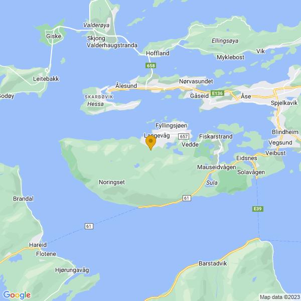 Google Map of 62.43145619033209,6.182557336987293