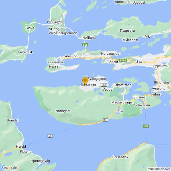 Google Map of 62.43967817248856,6.183775389891393