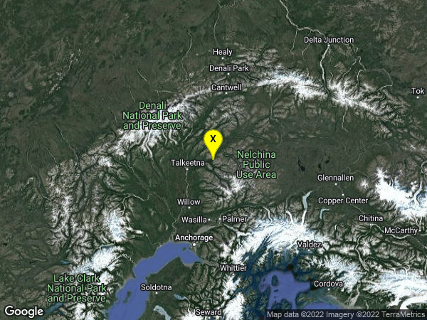 earthquake 42km NE of Y, Alaska
