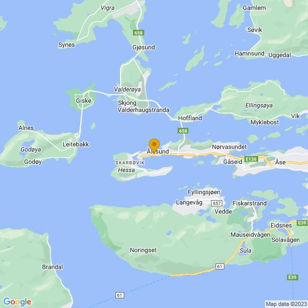 Google Map of 62.4707124,6.1443982