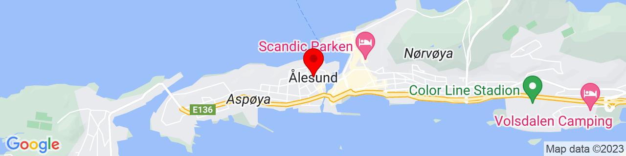 Google Map of 62.47222840000001, 6.1494820000000345