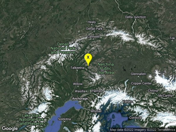 earthquake 45km NE of Y, Alaska