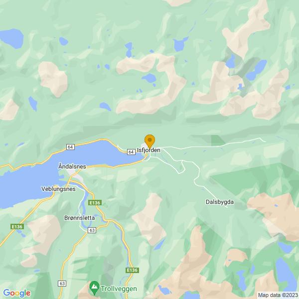 Google Map of 62.5781097,7.793485199999999