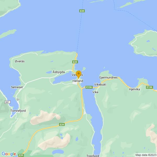 Google Map of 62.62135862028406,7.089700698852539
