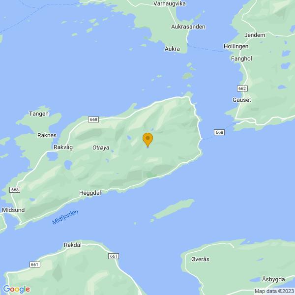 Google Map of 62.7139664,6.861892200000001