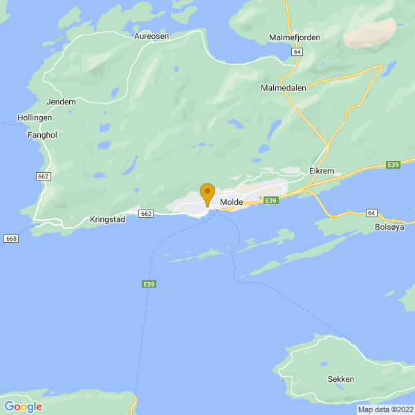 Google Map of 62.73767580000001,7.156874299999999