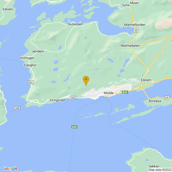 Google Map of 62.7477406,7.126719599999999