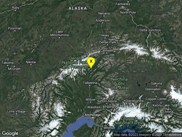 earthquake 62km N of Talkeetna, Alaska