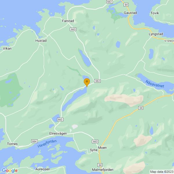 Google Map of 62.90426416247965,7.206152129467789