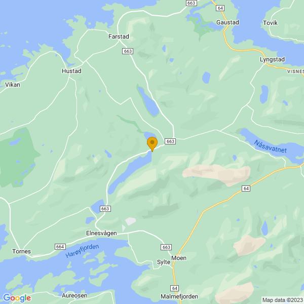 Google Map of 62.904429998253185,7.206481394690996