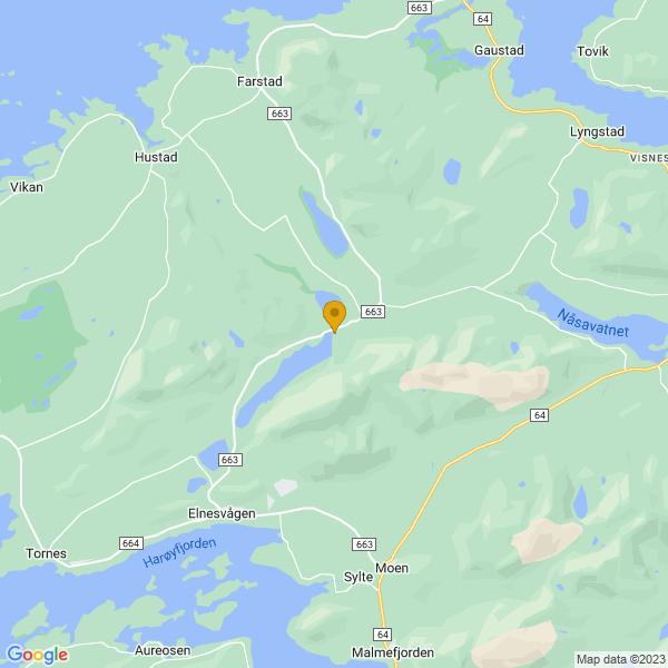 Google Map of 62.904636920393564,7.207205088330091