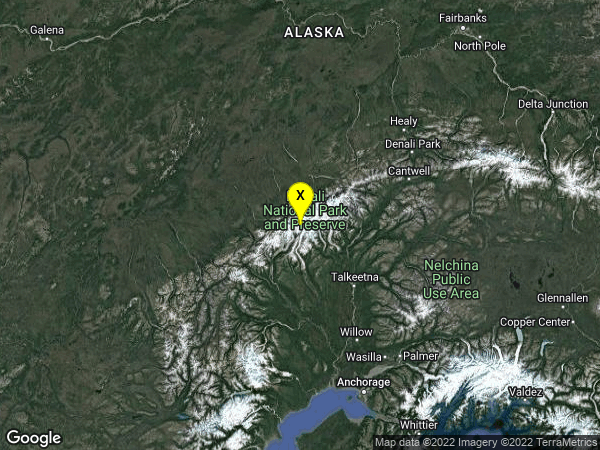earthquake 91km NW of Talkeetna, Alaska