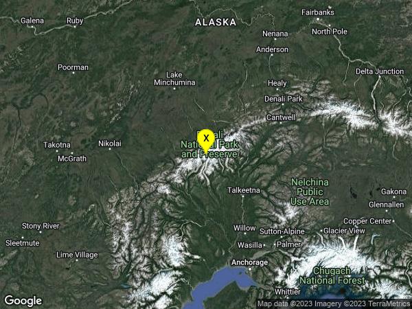 earthquake 91km NW of Talkeetna, Alaska