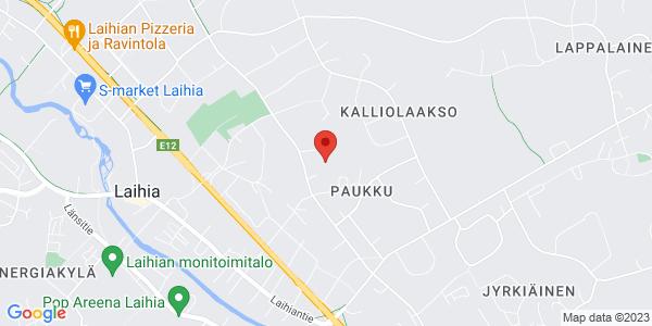 Kartta: Vallinmäentie 43, Laihia