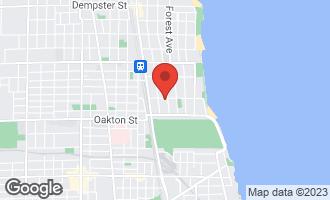 Map of 620 Judson Avenue #3 EVANSTON, IL 60202