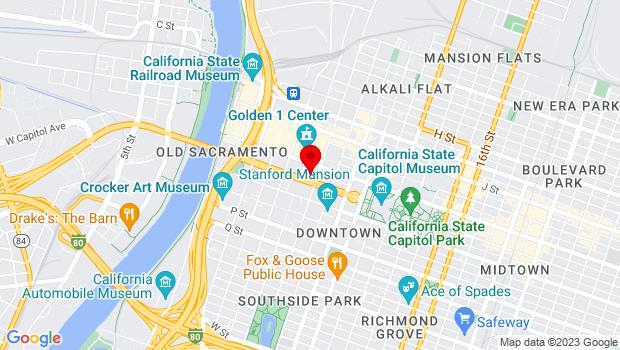 Google Map of 621 Capitol Mall, Sacramento, CA 95814