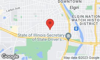 Map of 621 Oak Street ELGIN, IL 60123