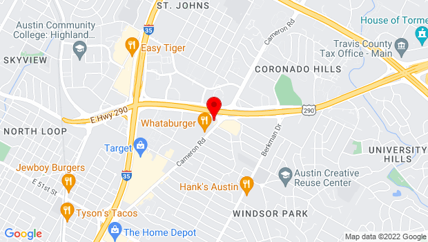 Google Map of 6214 Cameron Rd, Austin, TX 78723