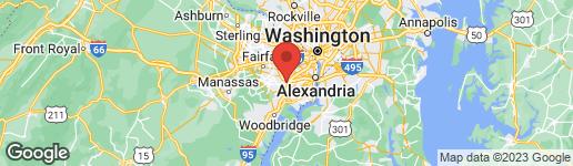 Map of 6217 DANA AVENUE SPRINGFIELD, VA 22150