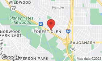 Map of 6218 North Navajo Avenue CHICAGO, IL 60646