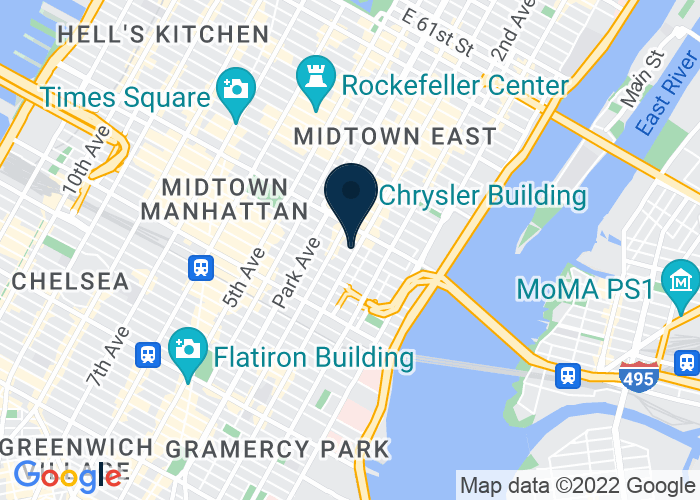 Map of 622 Third Ave at 40th Street, New York, NY 10017, United States