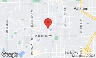 Map of 622 South Cedar Street PALATINE, IL 60067