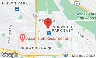 Map of 6221 North Niagara Avenue #508 CHICAGO, IL 60631