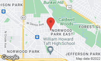Map of 6225 North Natoma Avenue CHICAGO, IL 60631