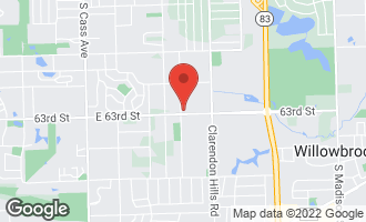 Map of 6239 Bentley Avenue WILLOWBROOK, IL 60527
