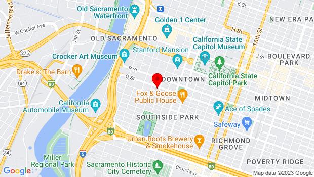 Google Map of 624 Q St., Sacramento, CA 95811