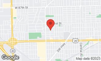 Map of 6241 West 92nd Place OAK LAWN, IL 60453