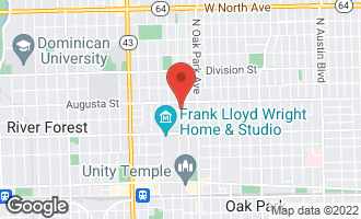 Map of 626 North Kenilworth Avenue OAK PARK, IL 60304